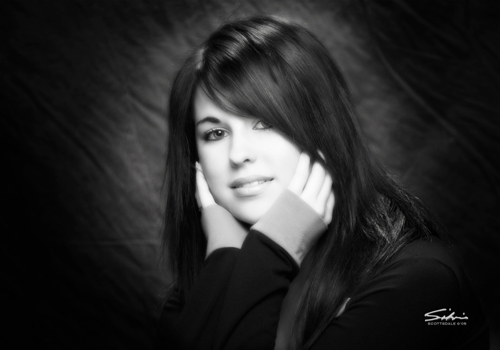 Fine art black white premiere scottsdale portrait artist